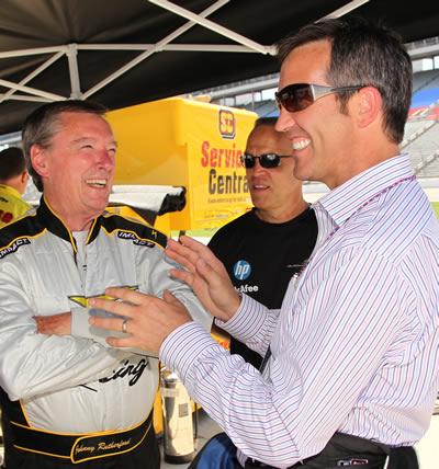 Randy Bernard IndyCar CEO and Johnny Rutherford